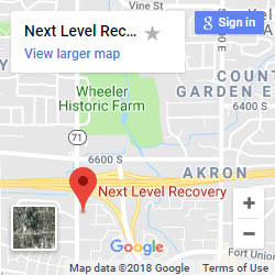 Map of the location for Next Level Recovery